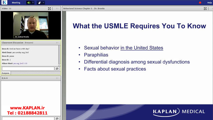 ویدیوهای کاپلان Kaplan USMLE Step 1 2015