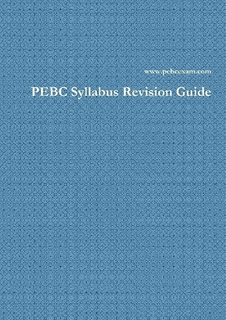 3- PEBC Syllabus Revision Guide  [Paperback] کتاب