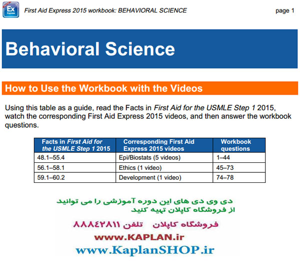 First Aid Step 1 Express Videos - USMLE-Rx - 2015 ویدیوهای فرست اید